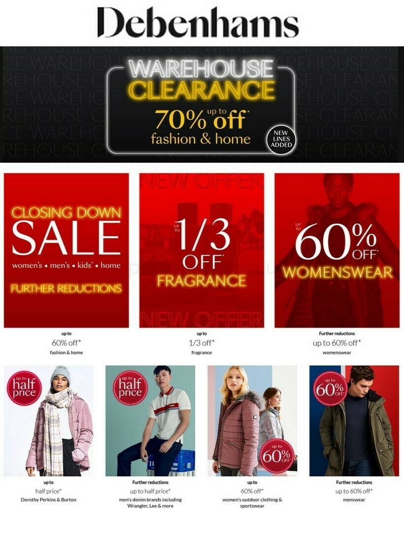 Debenhams Offers from February 12