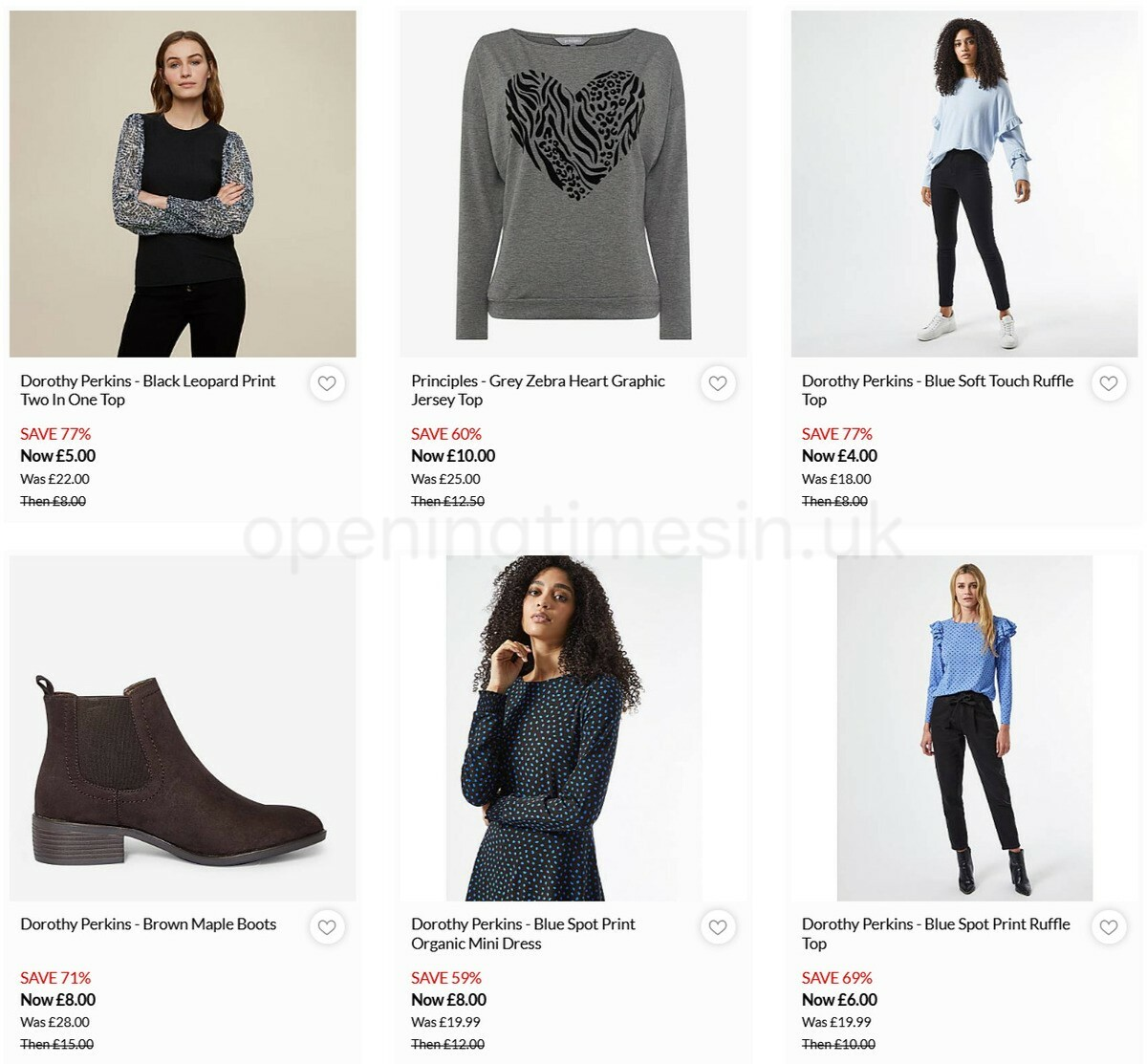 Debenhams Offers from March 11