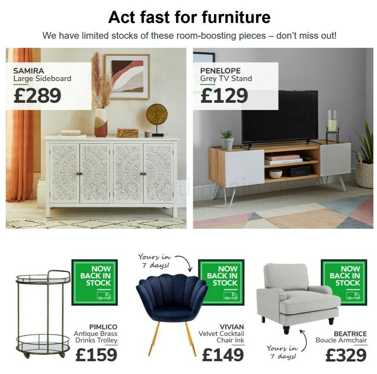 Dunelm Offers from April 25