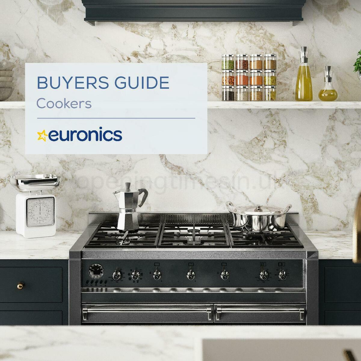 Euronics Cookers Offers from January 1