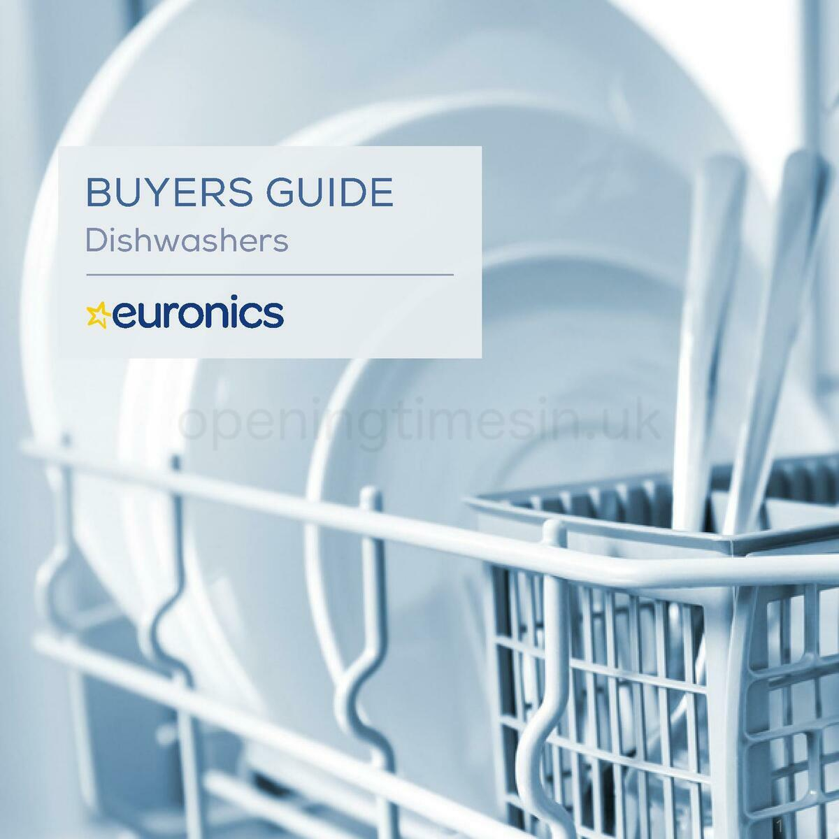 Euronics Dishwashers Buyers Guide Offers from January 1