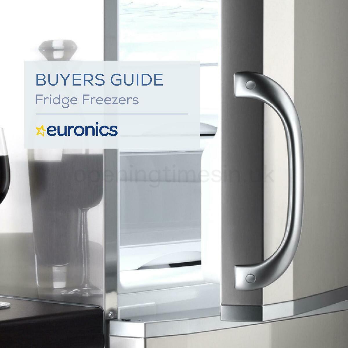 Euronics Fridge Freezers Buyers Guide Offers from January 1