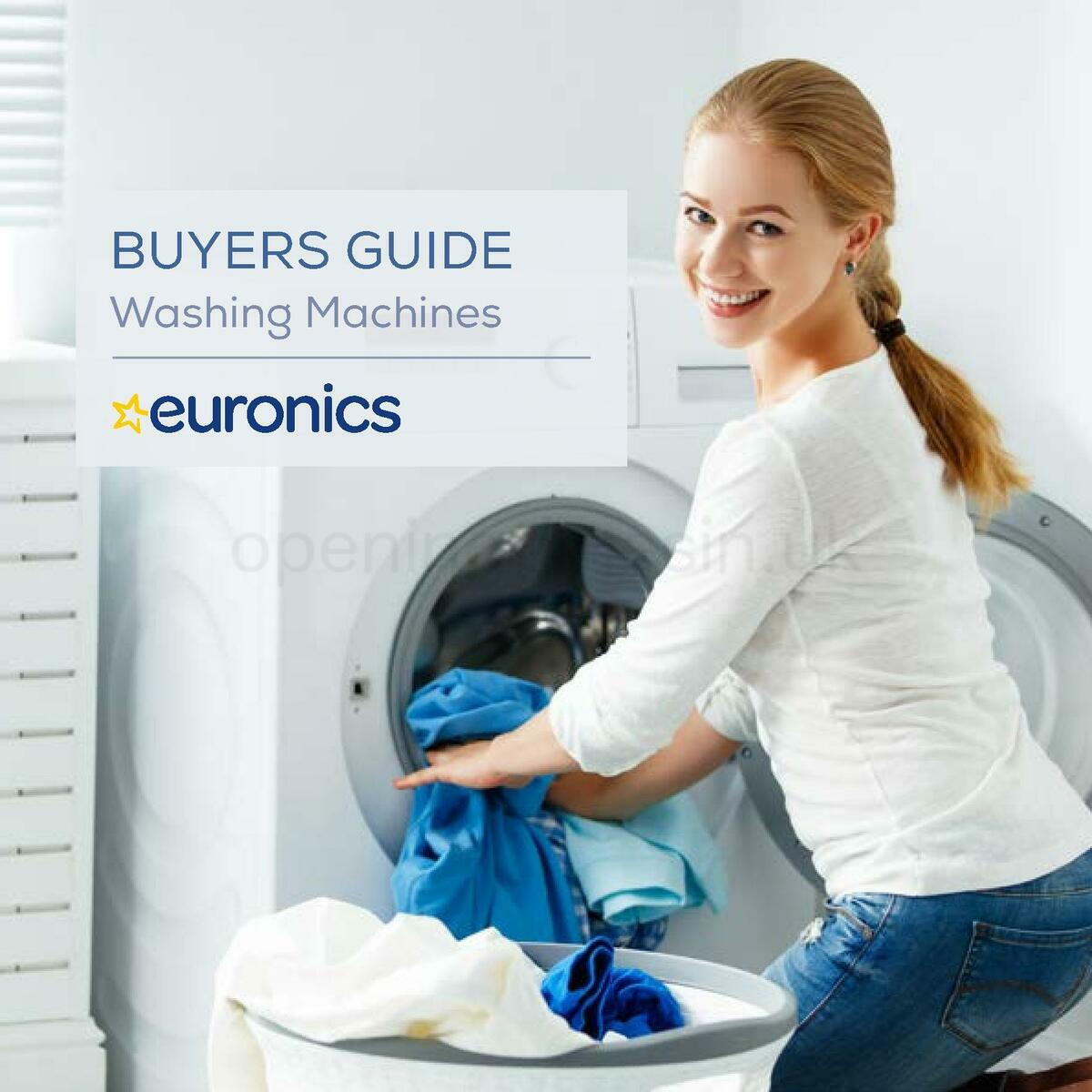 Euronics Washing Machines Buyers Guide Offers from January 1