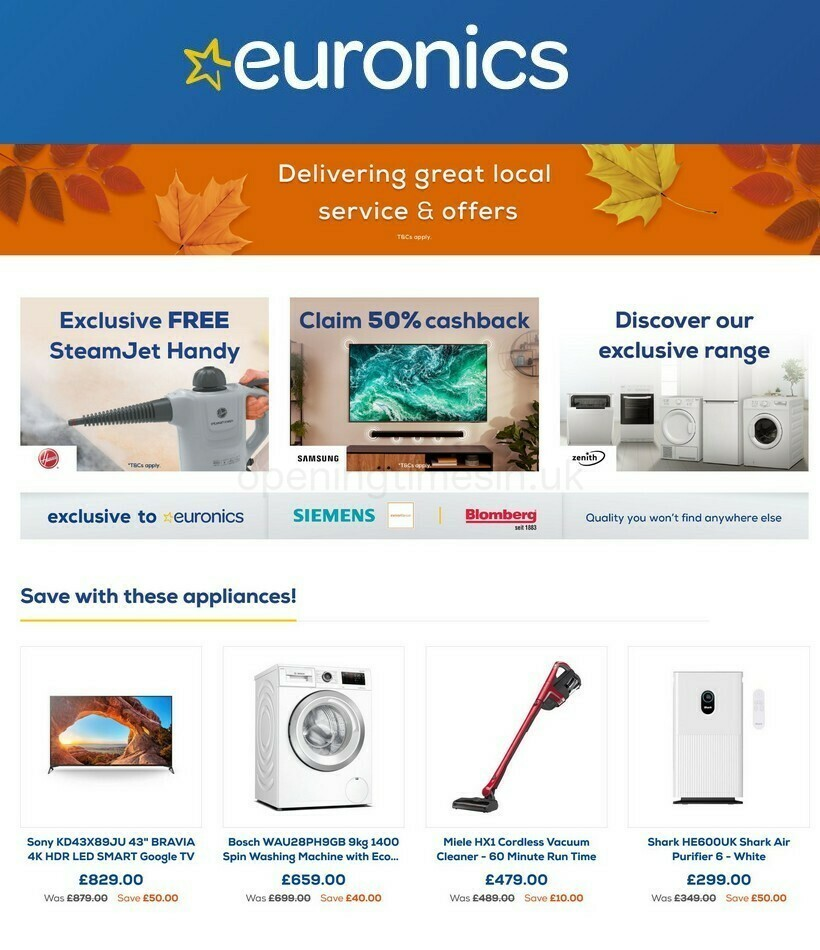 Euronics Offers from October 1