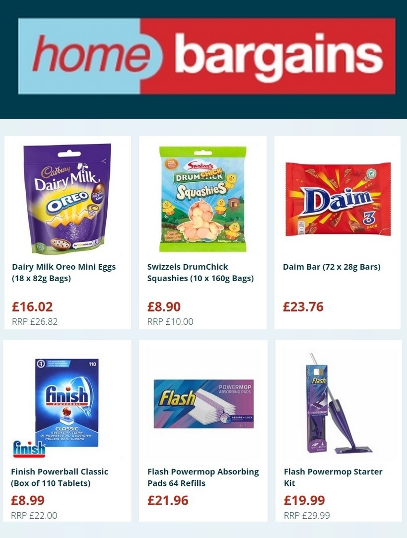 Home Bargains Offers from March 25