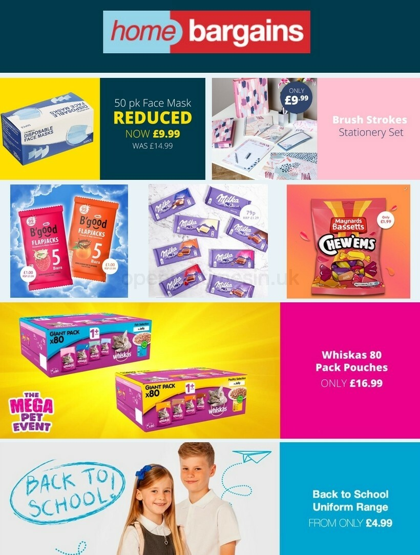 Home Bargains Offers from July 28