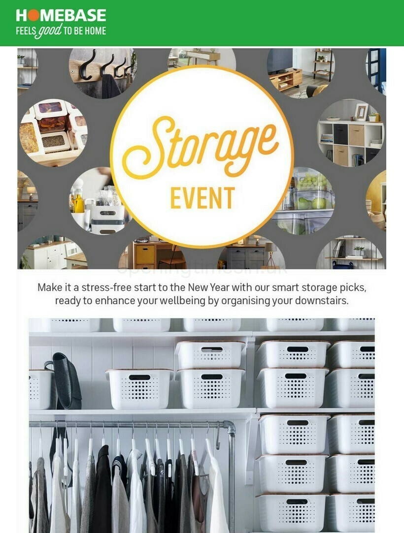 Homebase Storage Event Offers from January 17