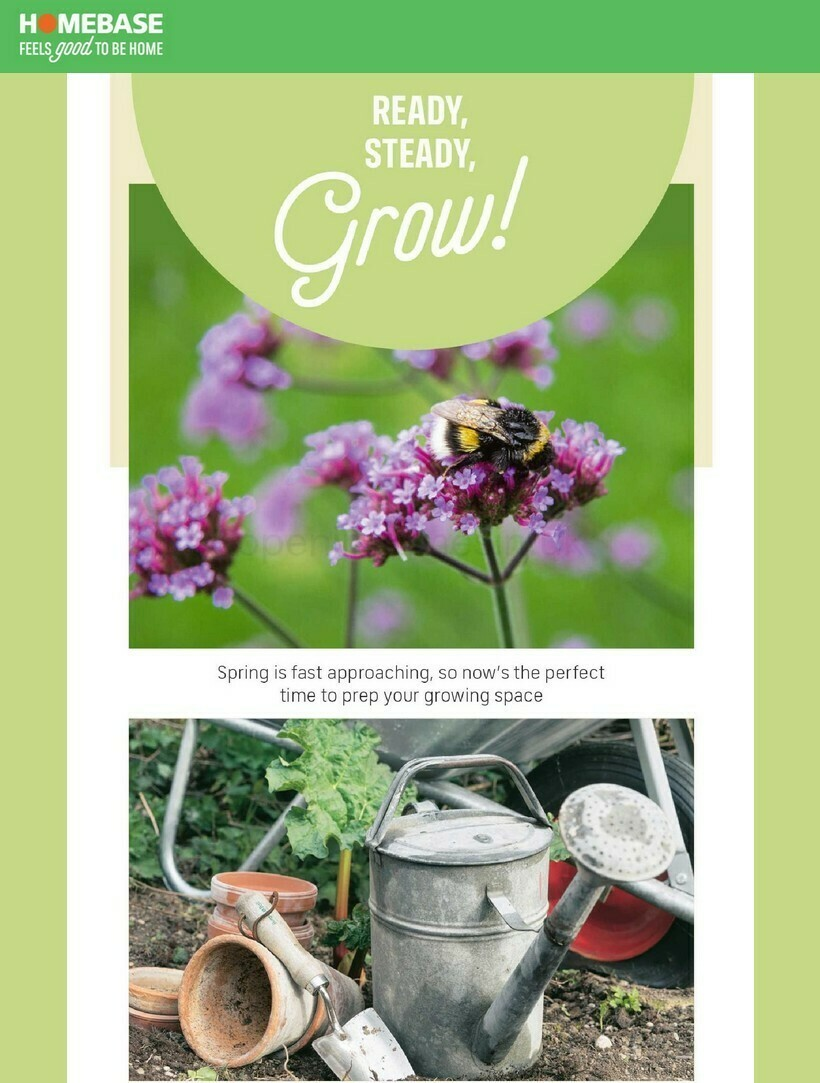 Homebase Get your garden growing Offers from February 24