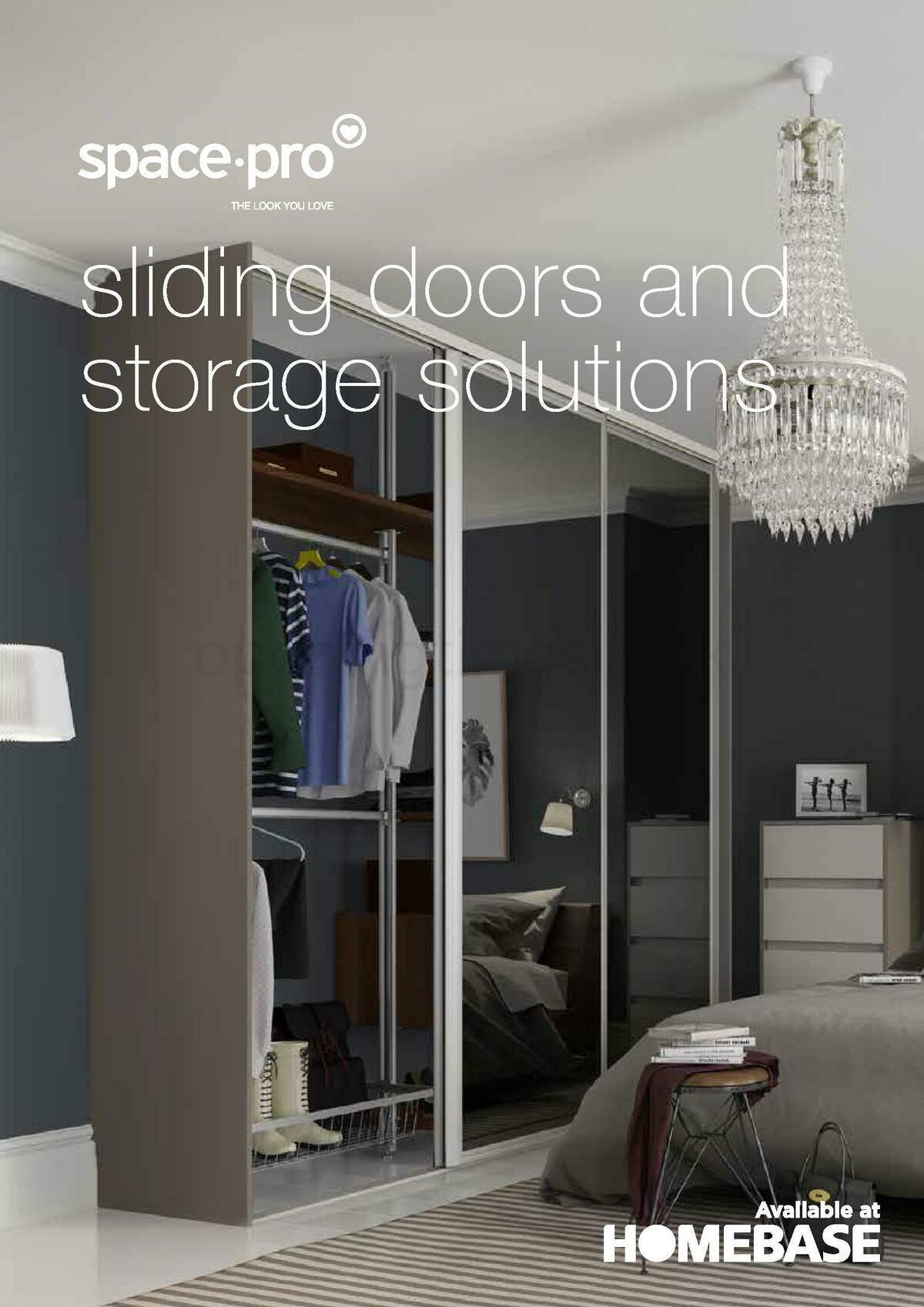 Homebase Sliding Doors Brochure Offers from August 1
