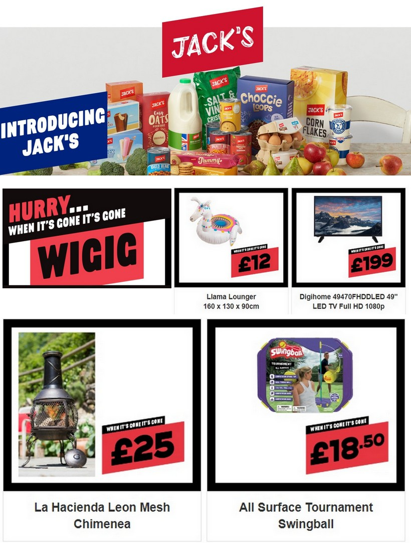 Jack's Offers from July 4