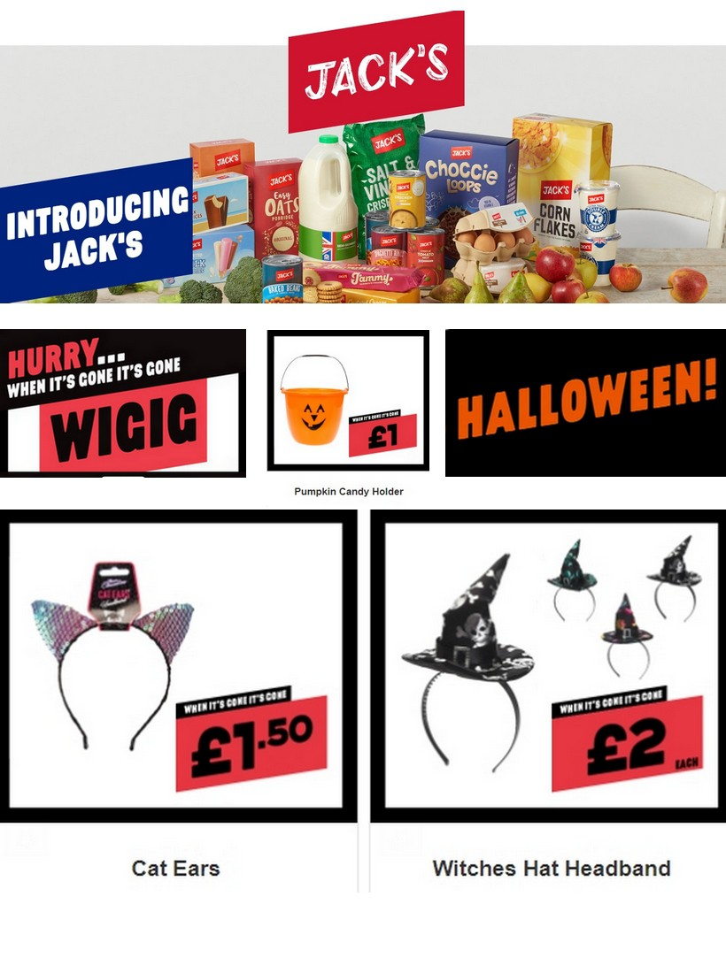Jack's Offers from October 16