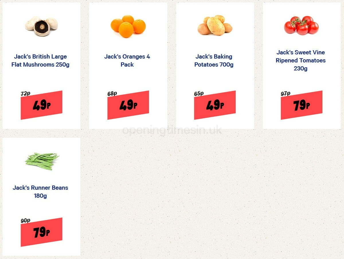 Jack's Offers from September 12