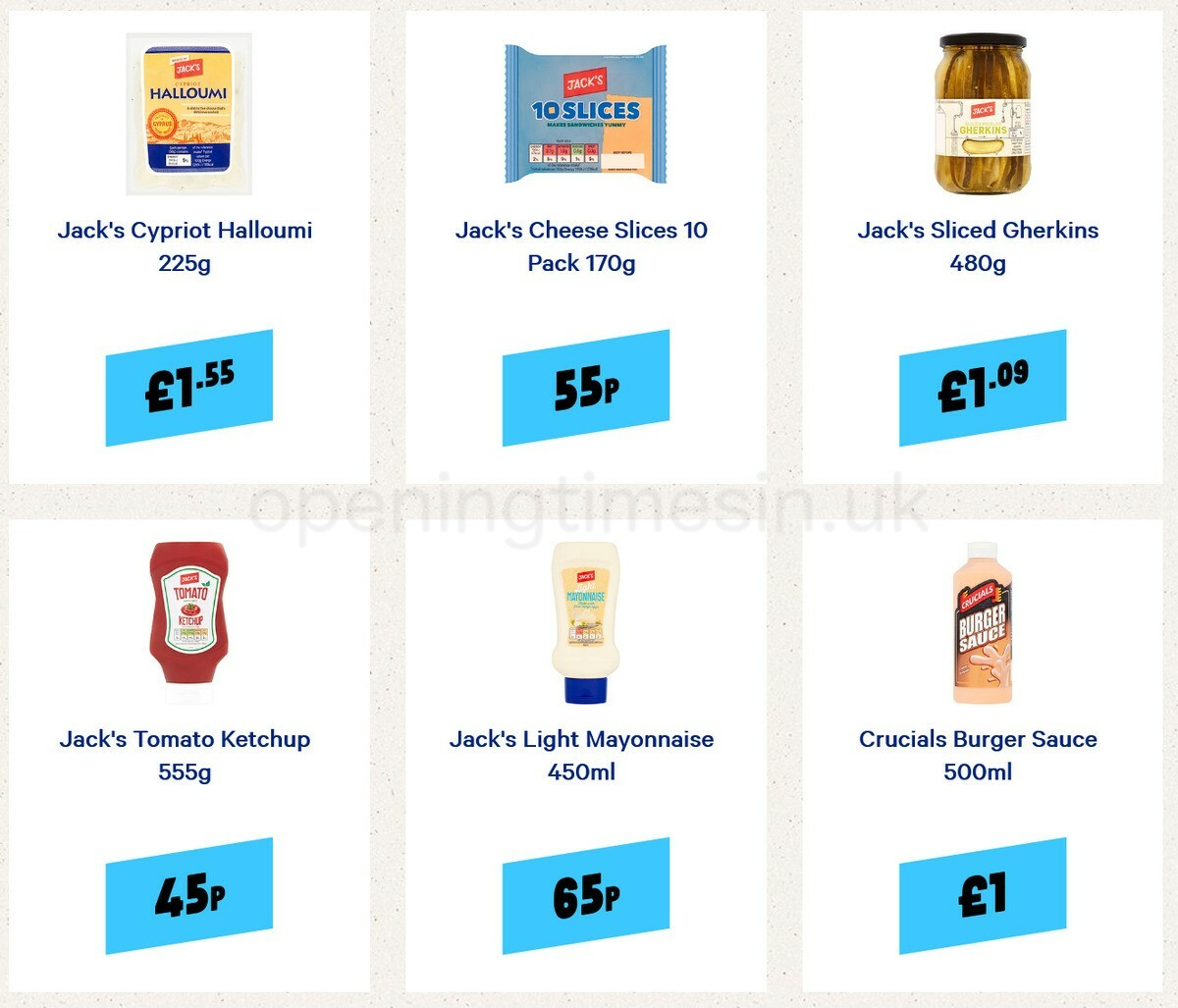 Jack's Offers from April 30