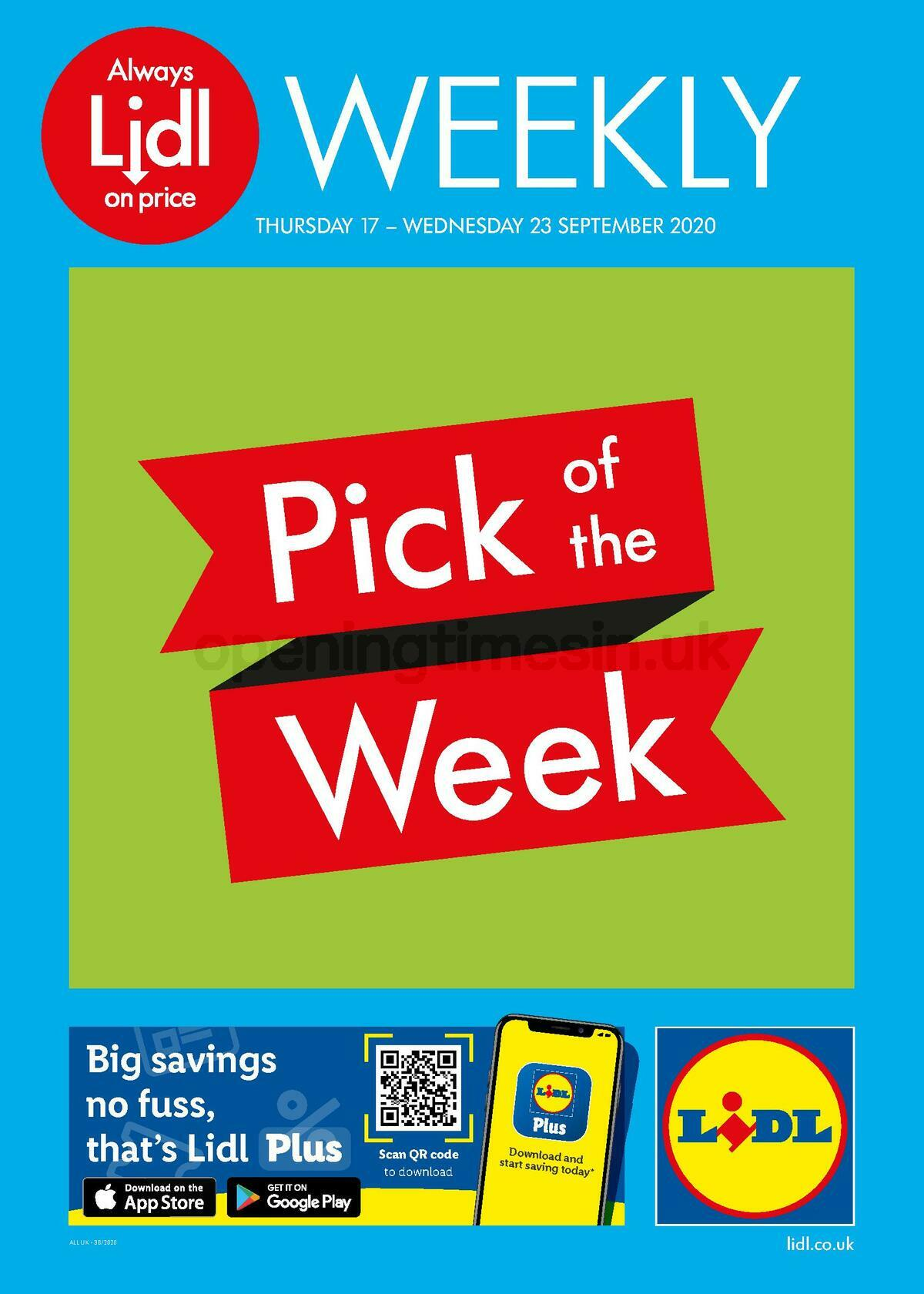 LIDL Offers from September 17