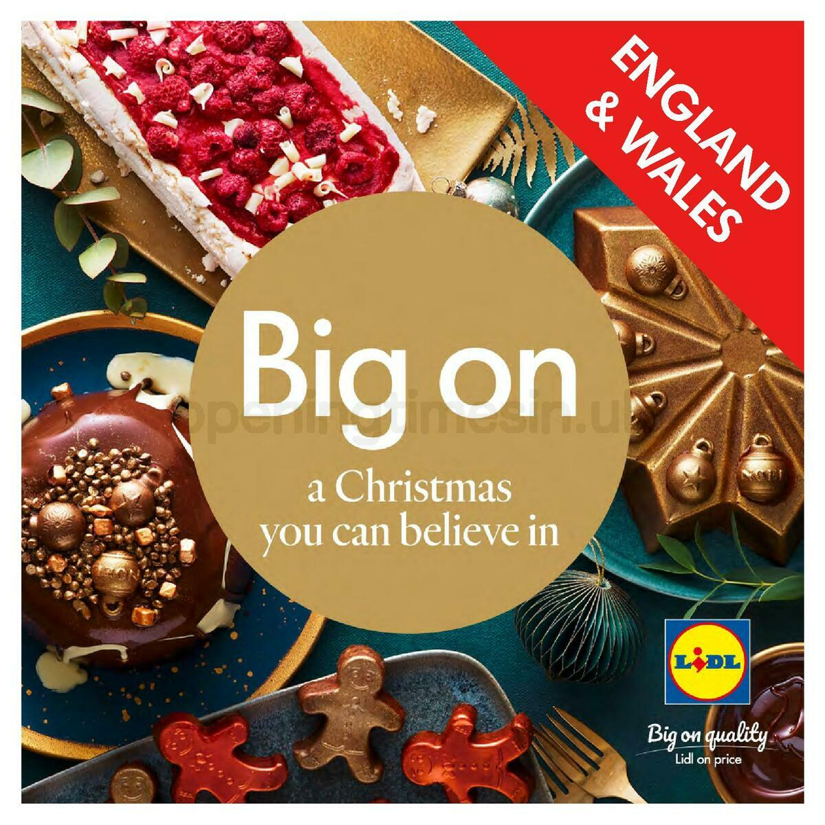 LIDL Christmas Magazine England and Wales Offers from November 10