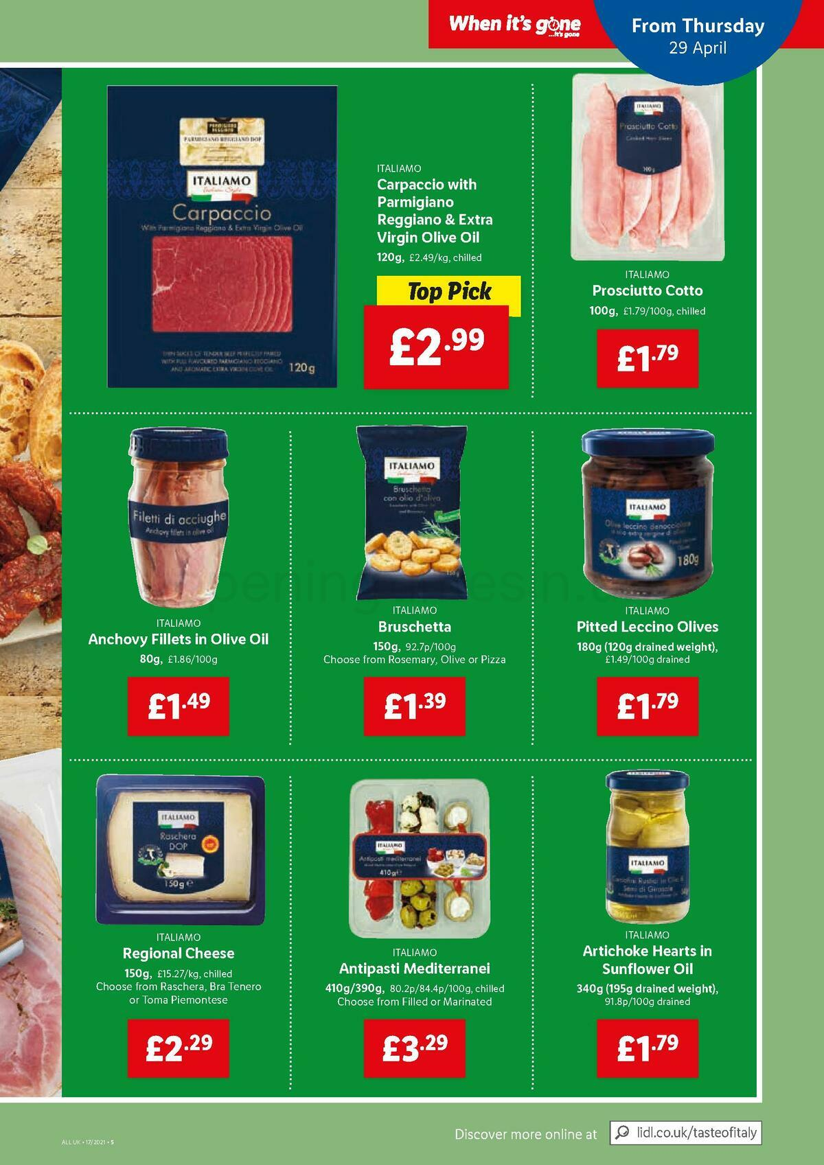 LIDL Offers from April 29