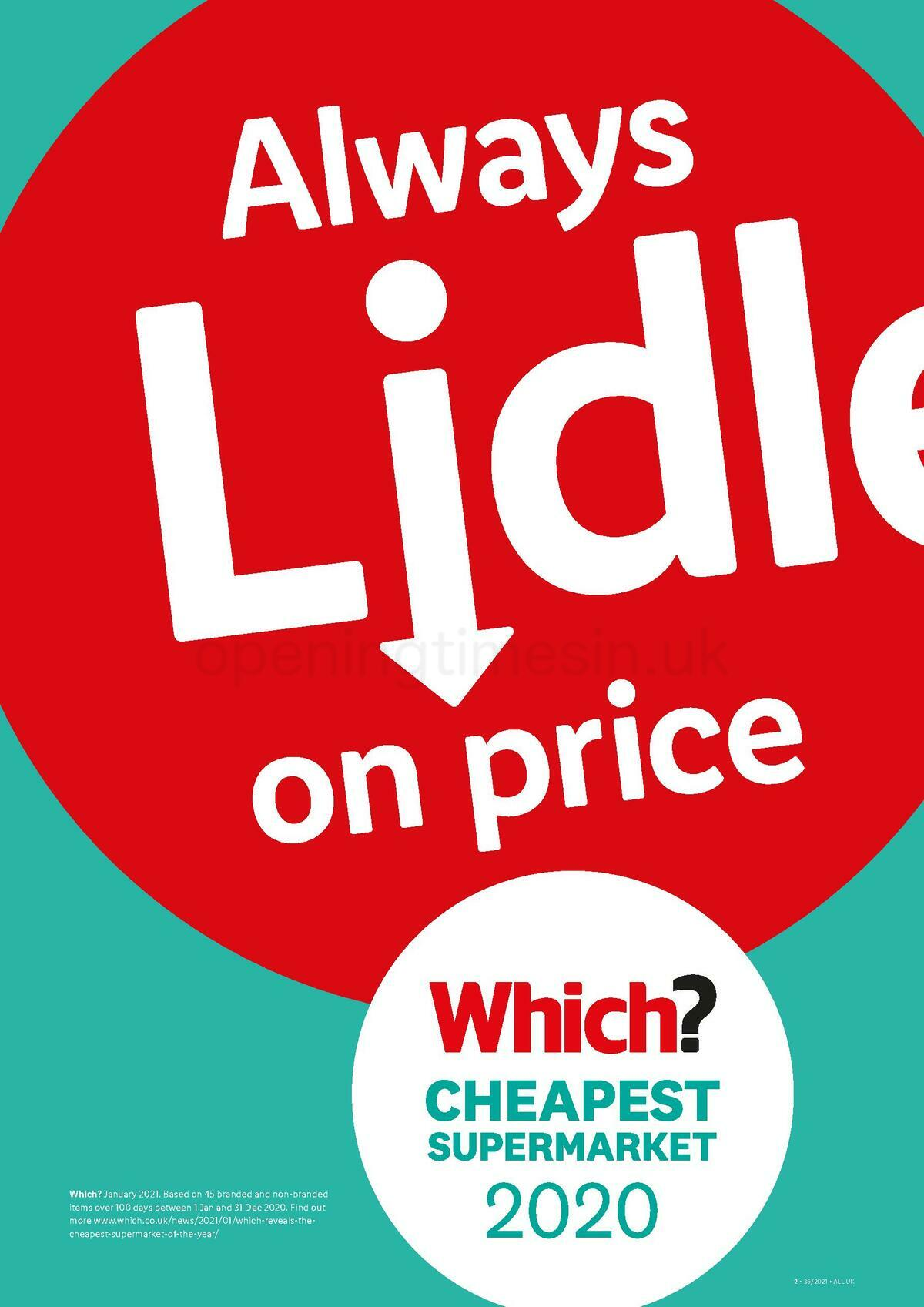 LIDL Offers from September 9