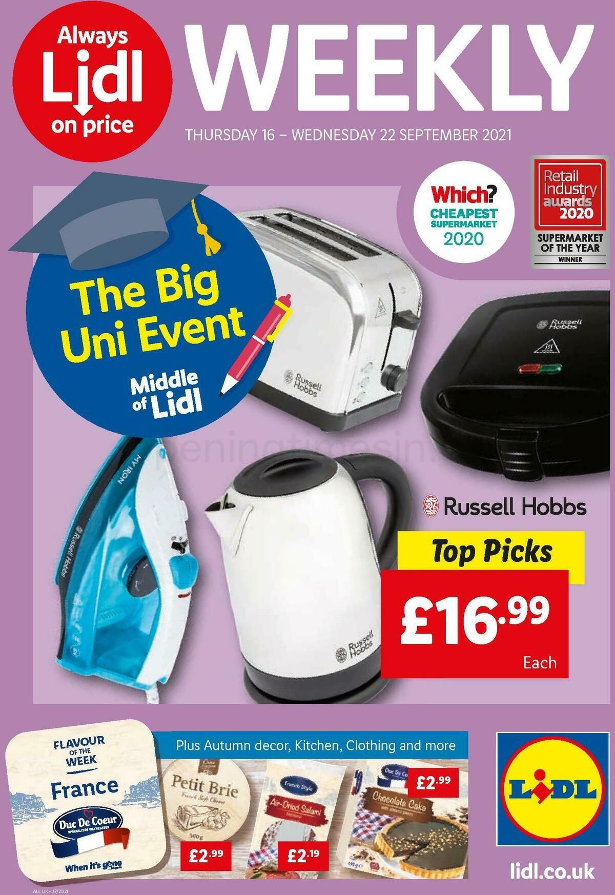 LIDL Offers from September 16
