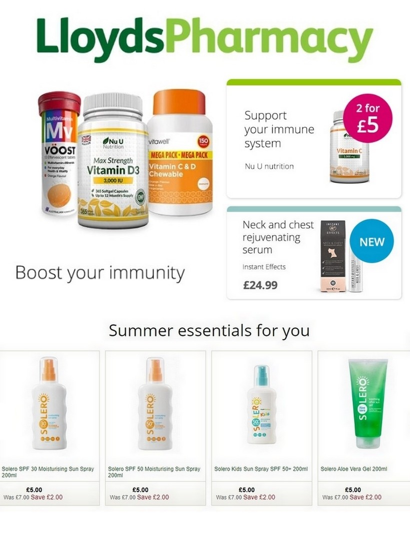 Lloyds Pharmacy Offers from June 19