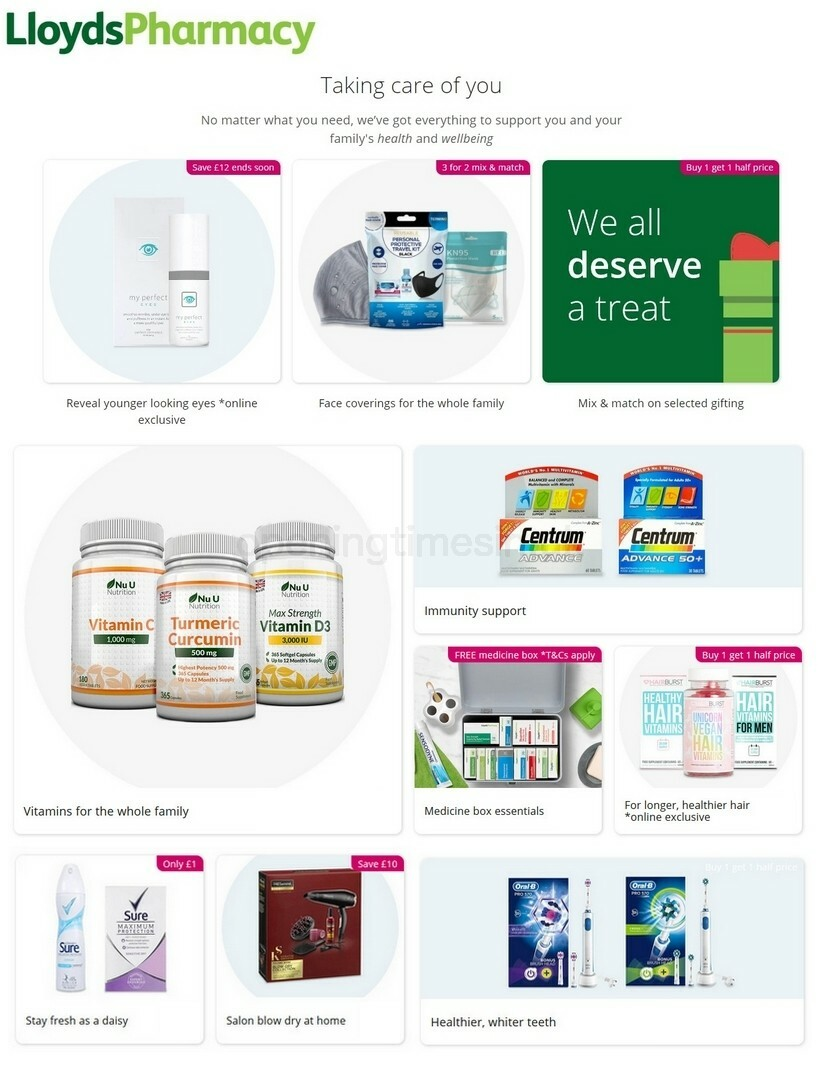 Lloyds Pharmacy Offers from October 8