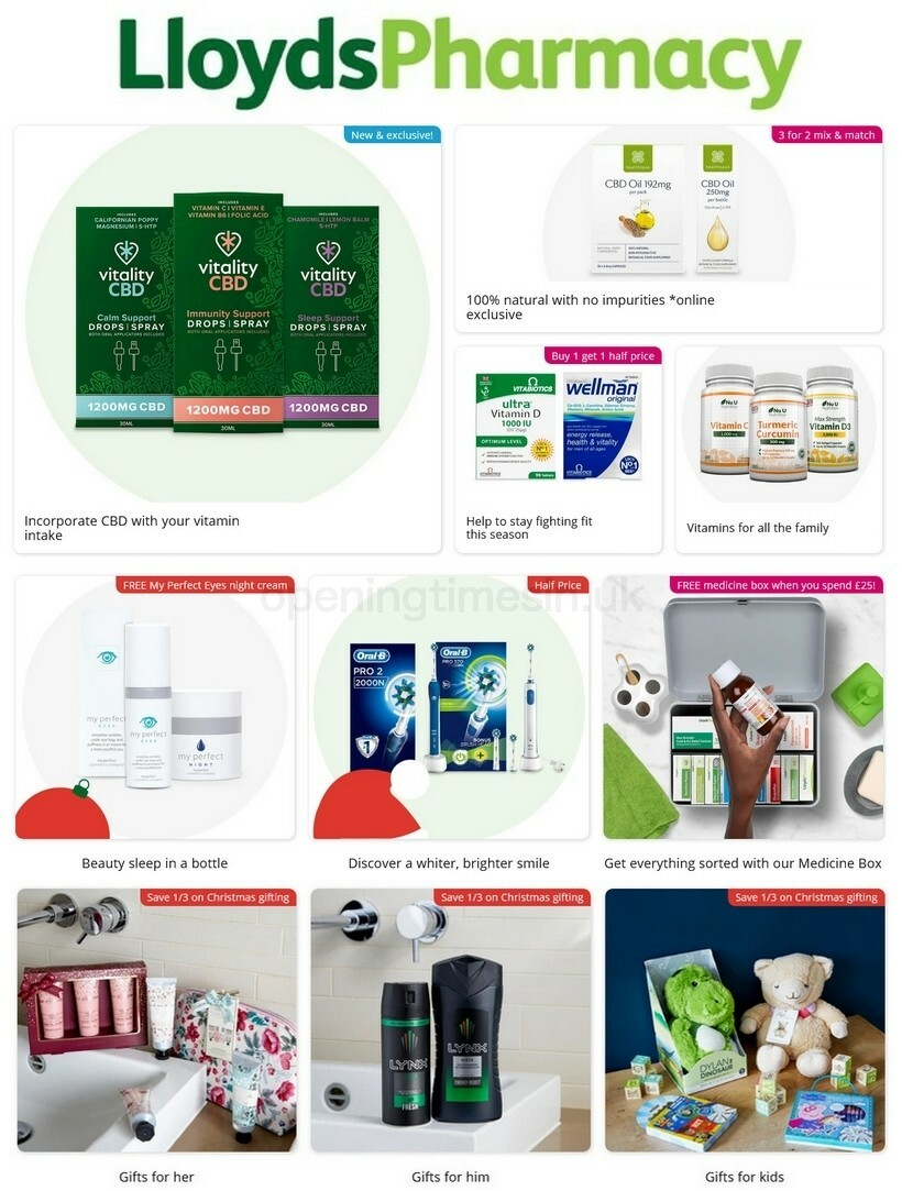 Lloyds Pharmacy Offers from October 31