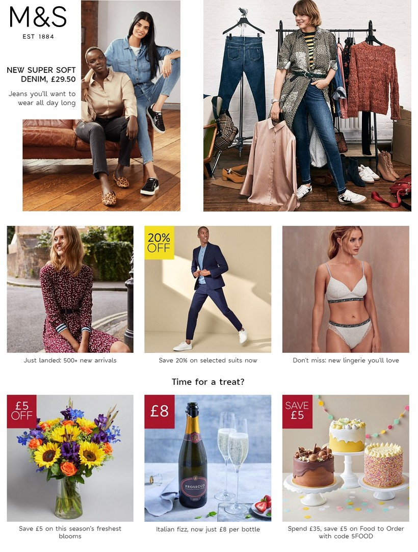 M&S Marks and Spencer Offers from September 3
