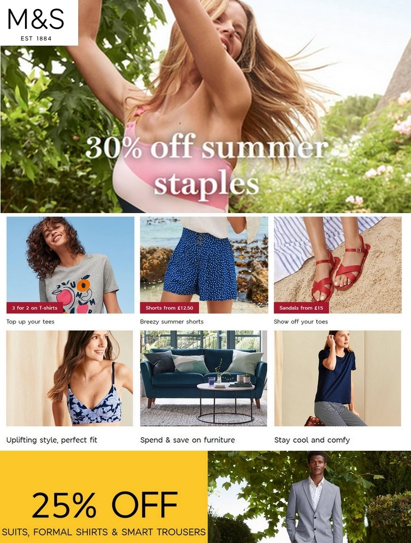 M&S Marks and Spencer Offers from July 7