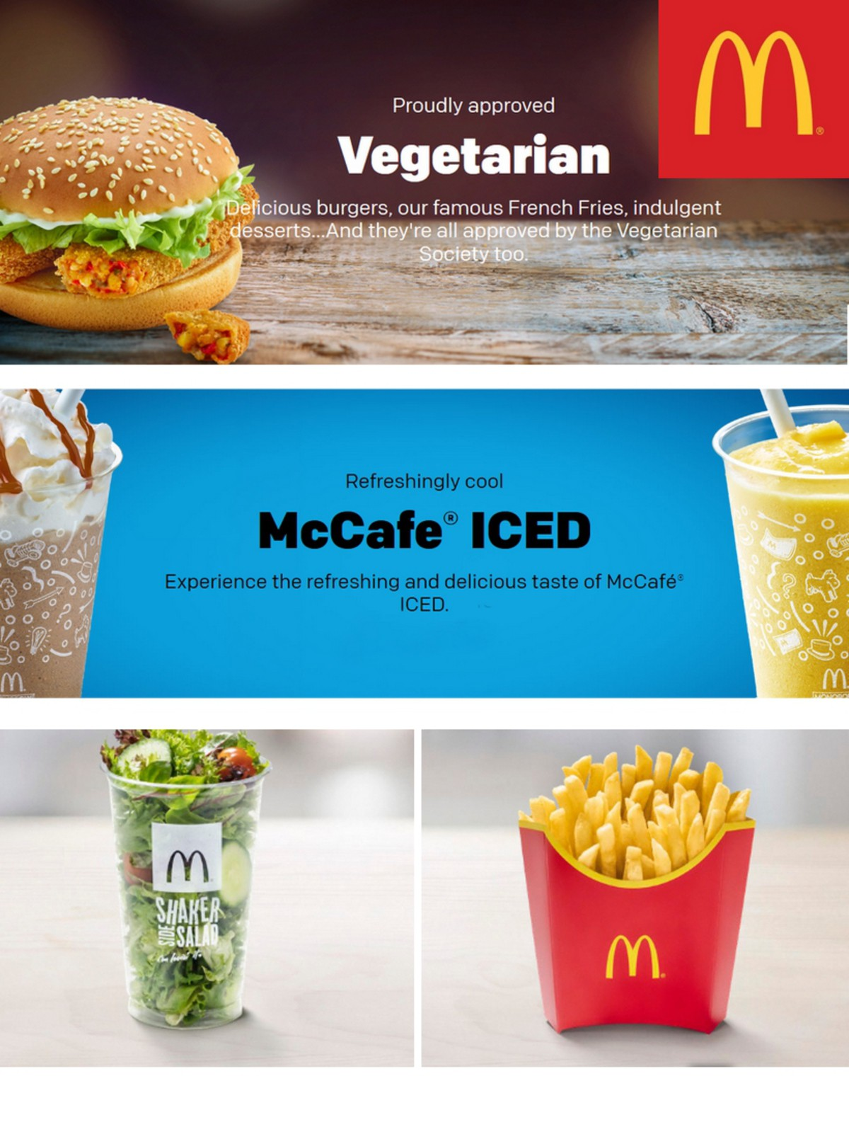 McDonald's Vegetarian Offers from April 1