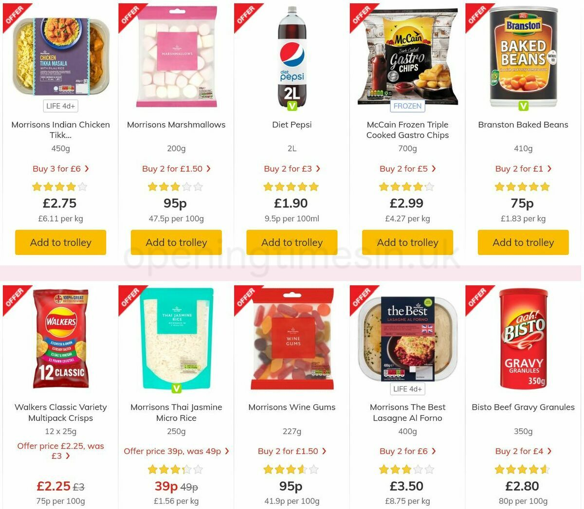 Morrisons Offers from August 31