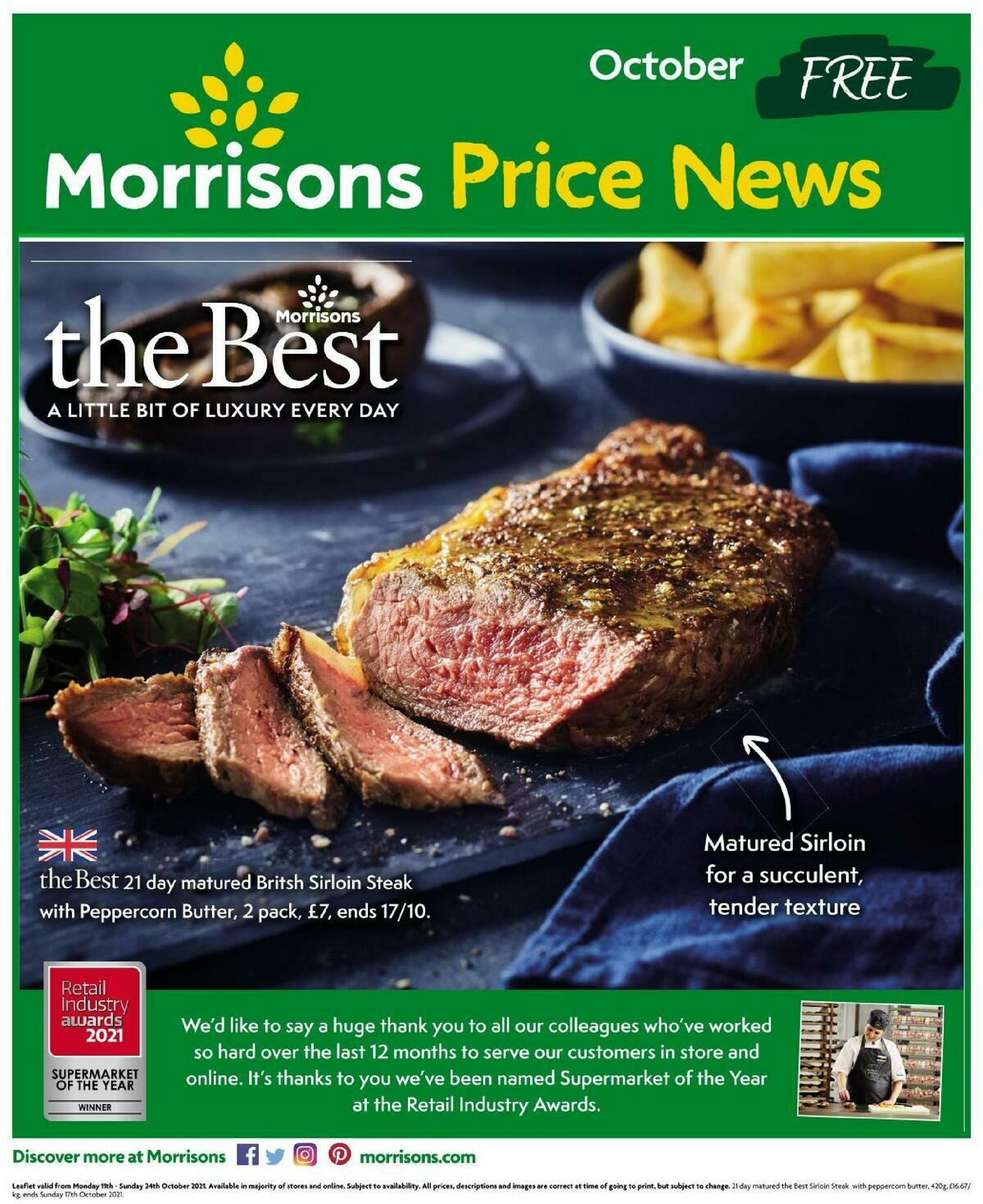 Morrisons Offers from October 11