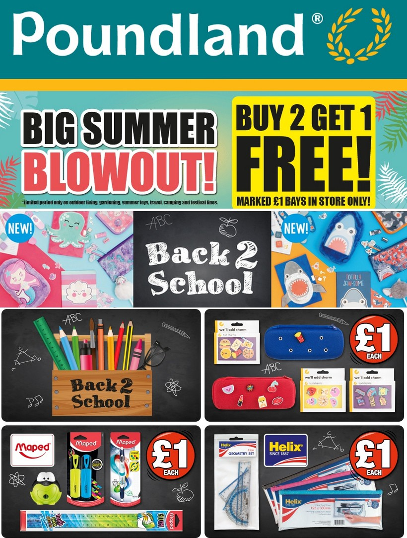 Poundland Offers from August 27