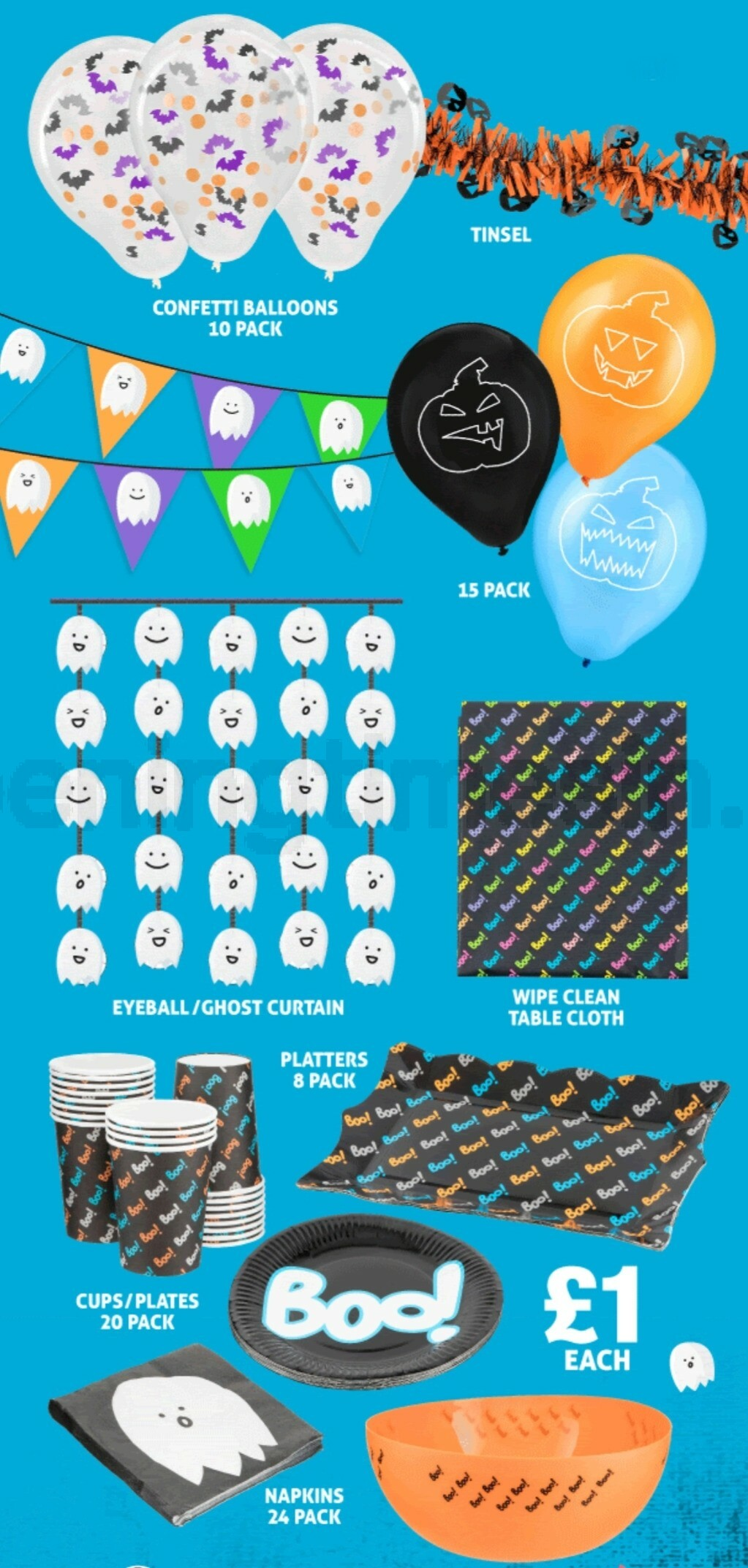 Poundland Halloween Offers from October 10