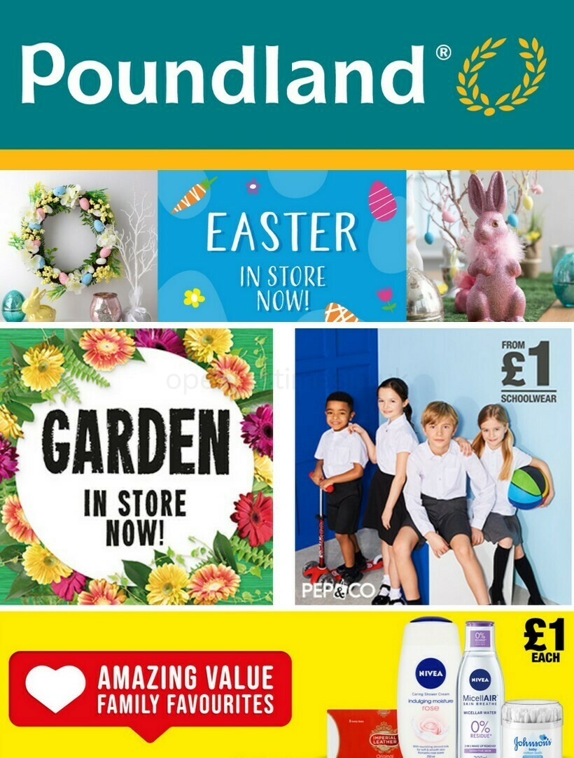 Poundland Offers from March 15