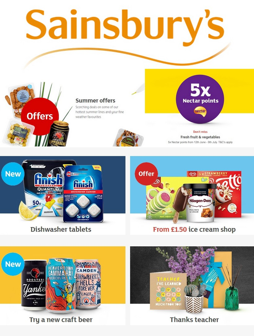 Sainsbury's Offers from June 28