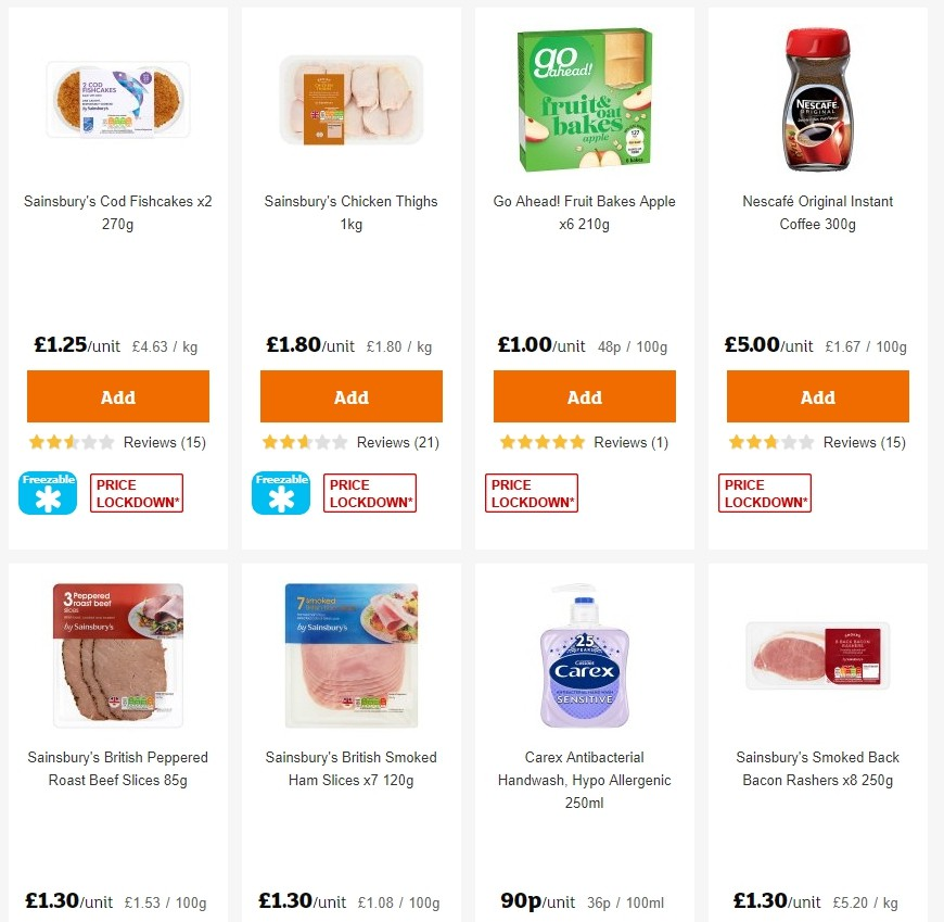 Sainsbury's Offers from August 2