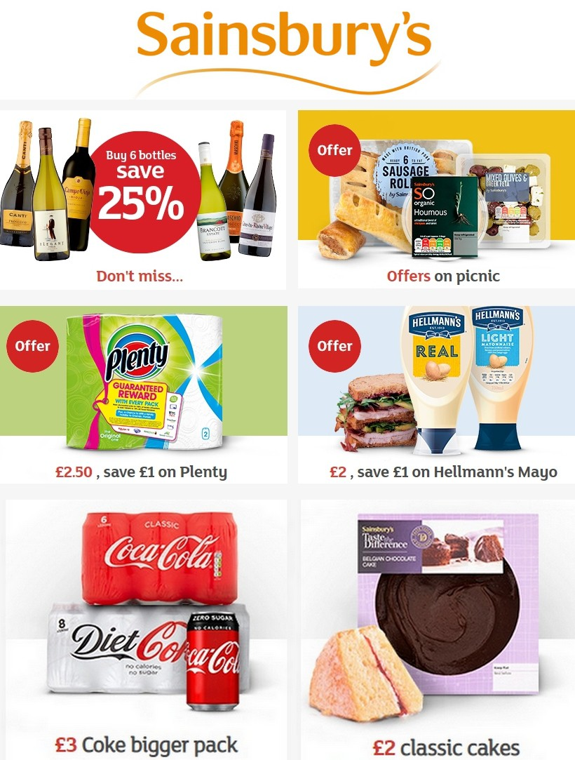 Sainsbury's Offers from August 23