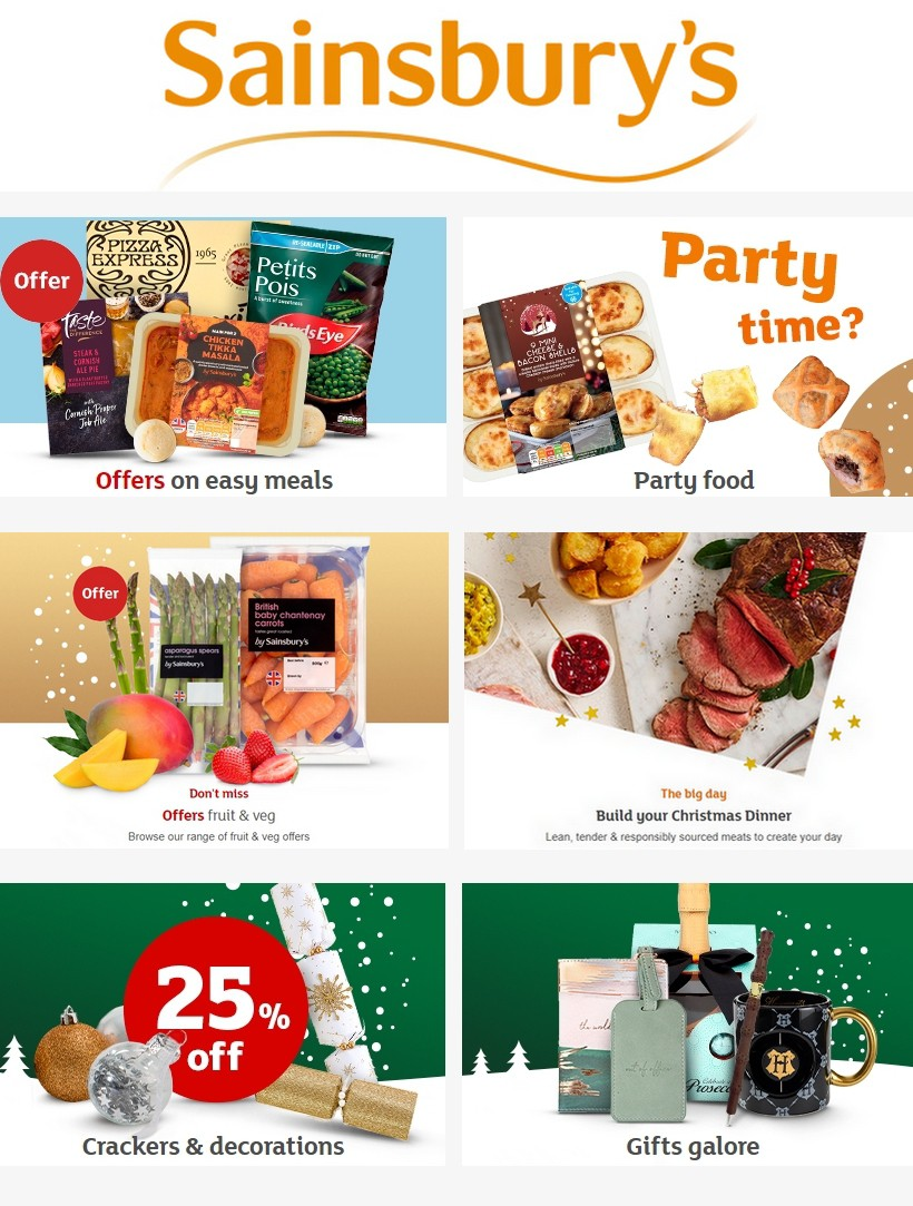 Sainsbury's Offers from December 13