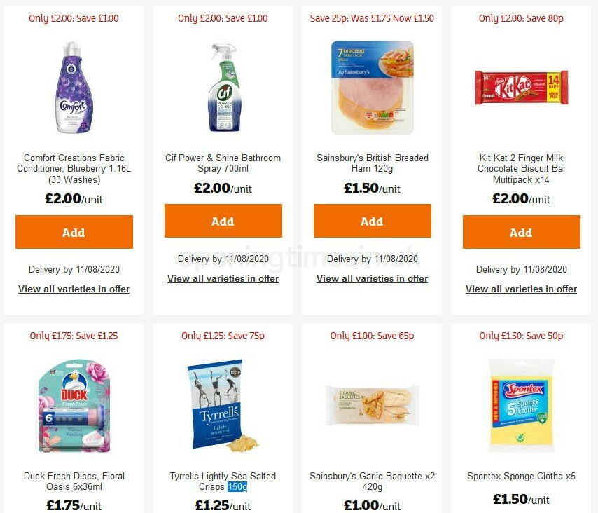 Sainsbury's Offers from July 31