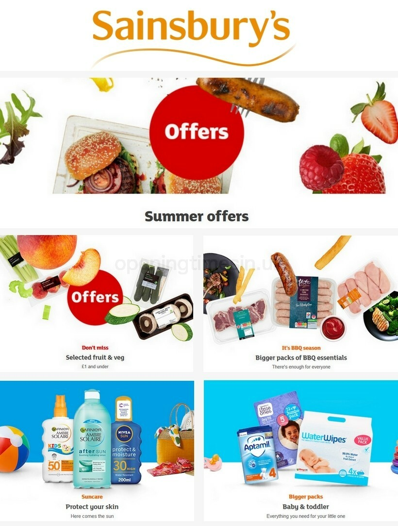 Sainsbury's Offers from August 7