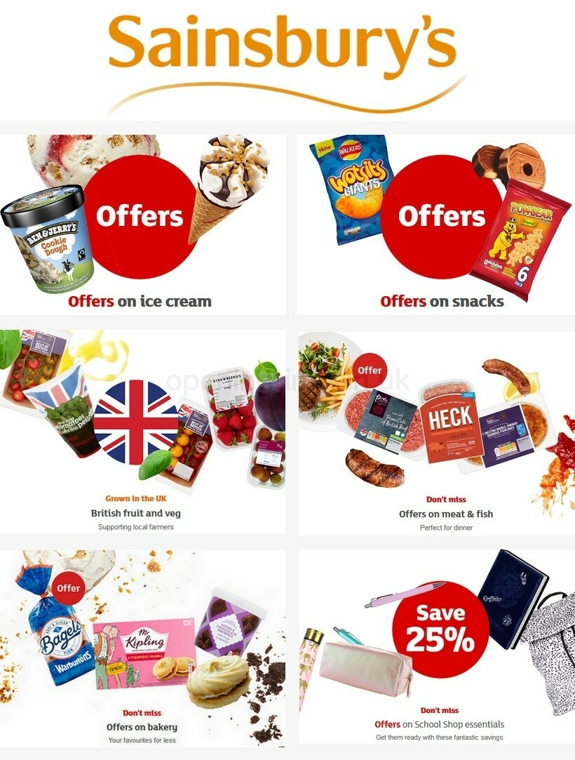 Sainsbury's Offers from August 14