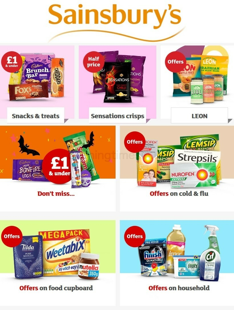 Sainsbury's Offers from October 15