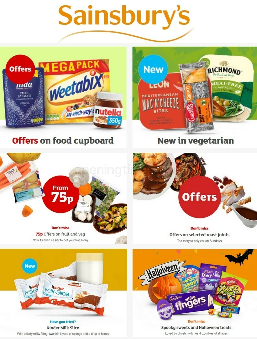 Sainsbury's Offers from October 23