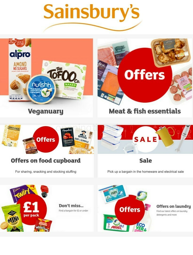 Sainsbury's Offers from January 8