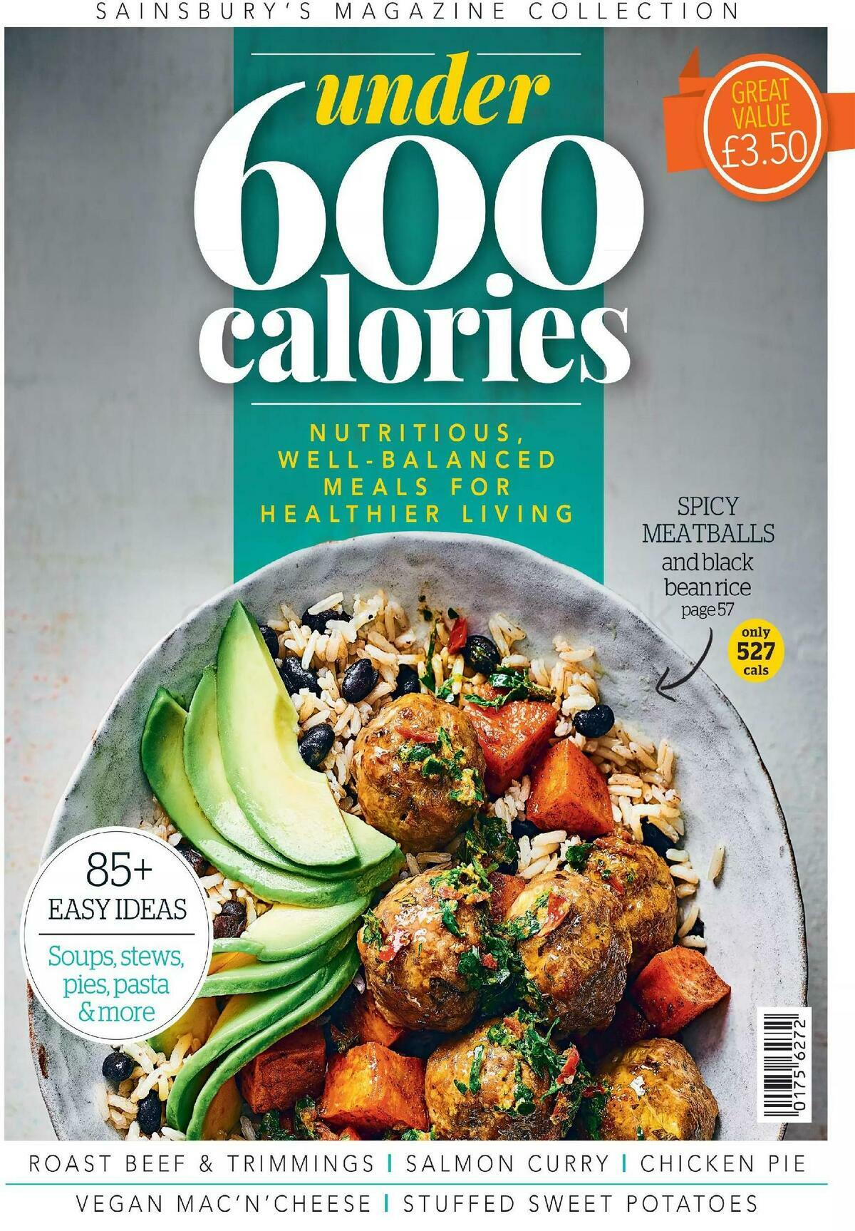 Sainsbury's Magazine Collection - Under 600 Calories Offers from January 20