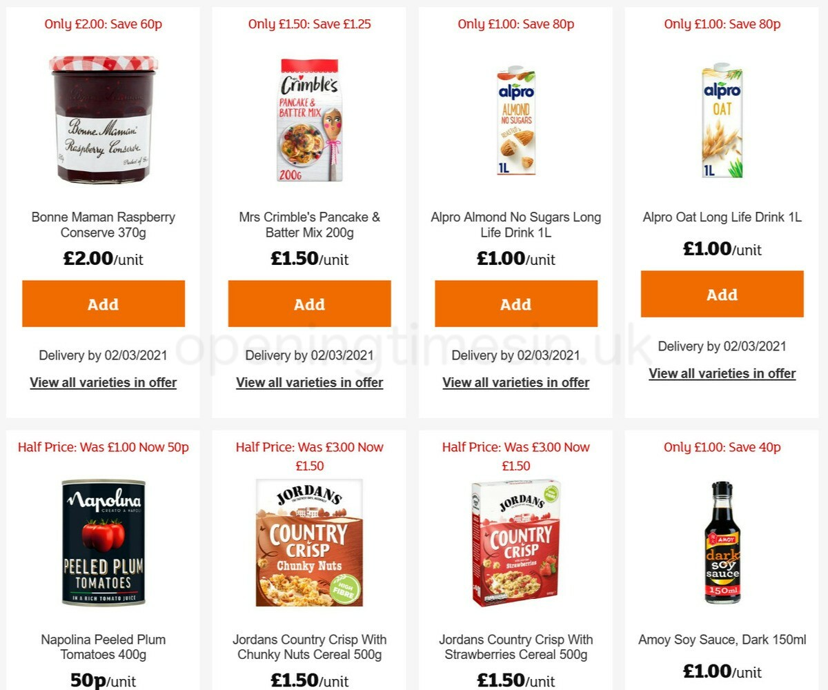 Sainsbury's Offers from February 19