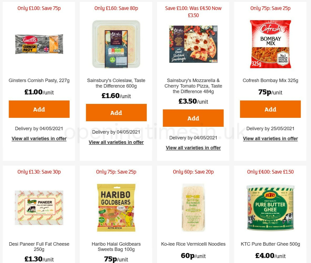 Sainsbury's Offers from April 30