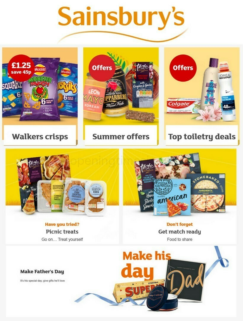 Sainsbury's Offers from June 11