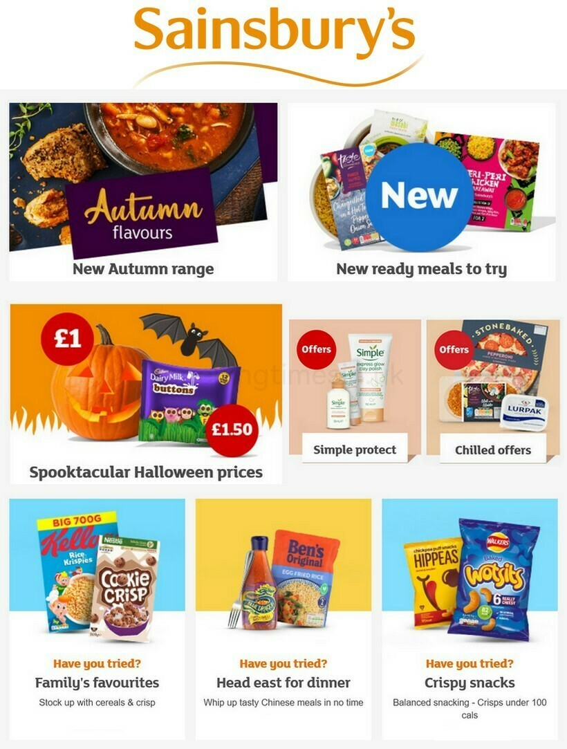 Sainsbury's Offers from October 8