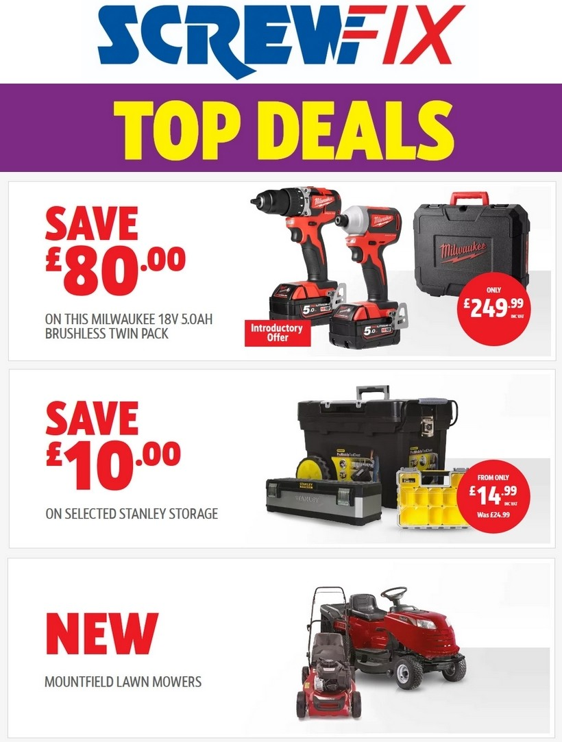 Screwfix Offers from May 15