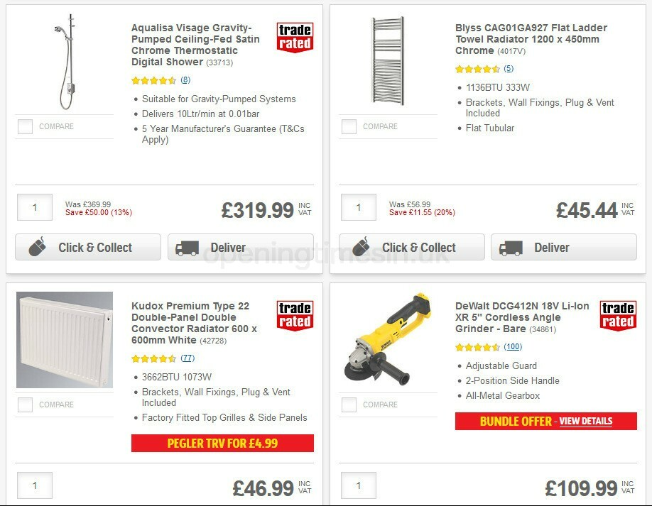 Screwfix Offers from September 5